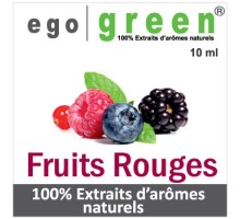 Eliquide Goût FRUITS ROUGES, Ego green