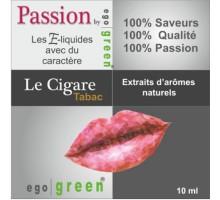 Eliquide Saveur TABAC LE CIGARE, Ego green