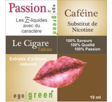 Eliquide Saveur LE CIGARE CAFEINE, Ego green